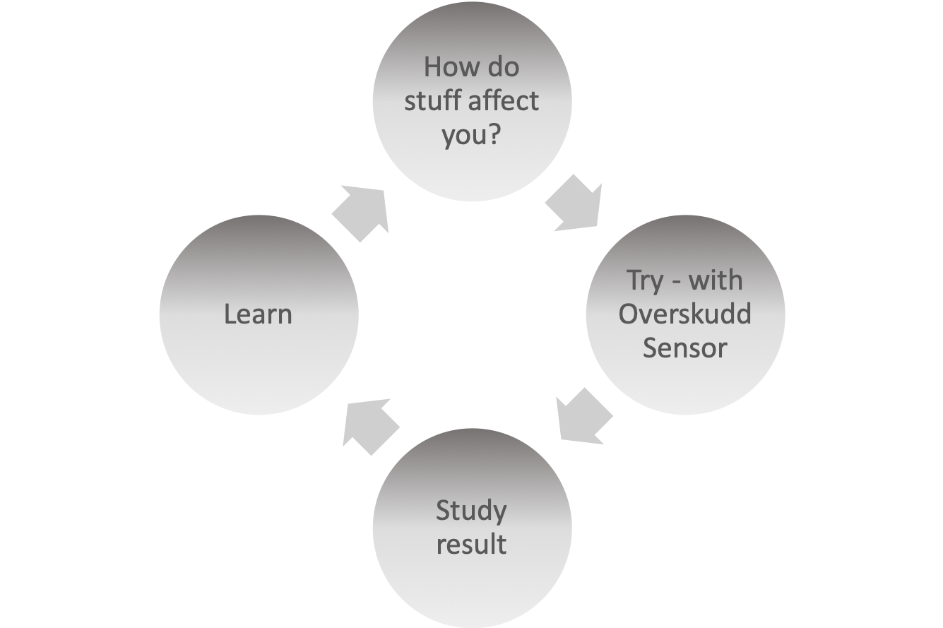 Overskudd allows you to take control of what affects you. The illustration above is of the scientific method