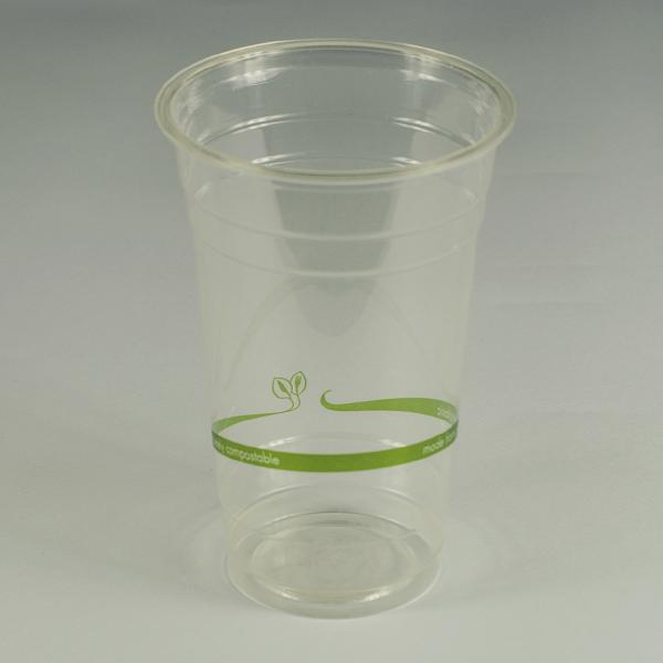 Vaso estándar transparente de PLA 20oz (590ml).