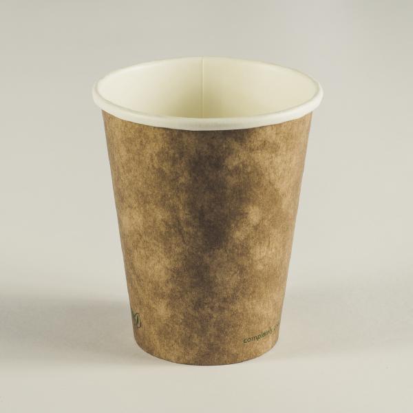 Vaso marrón cartón kraft 8oz (240ml).
