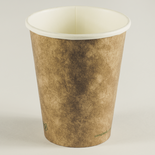 Vaso marrón cartón kraft 12oz (350ml).