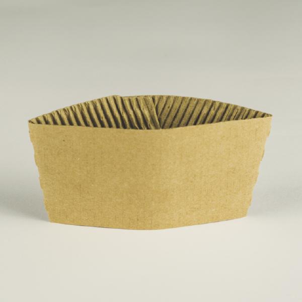 Manga de cartón para vasos 10 a 12oz (300 a 350ml).