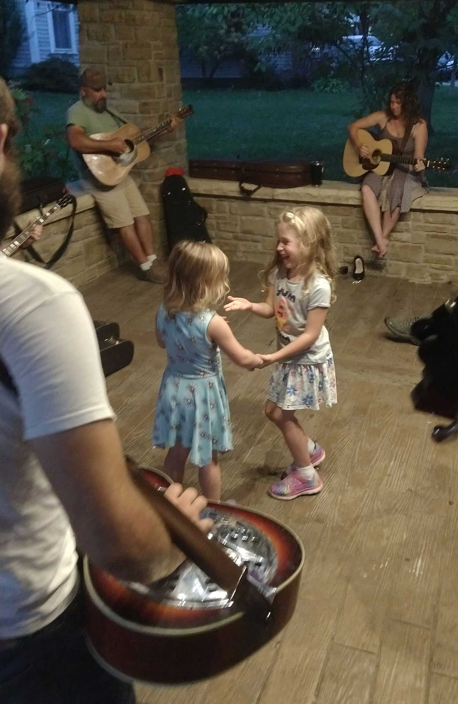 Tuesday night jam sessions at the Village Green Pavilion