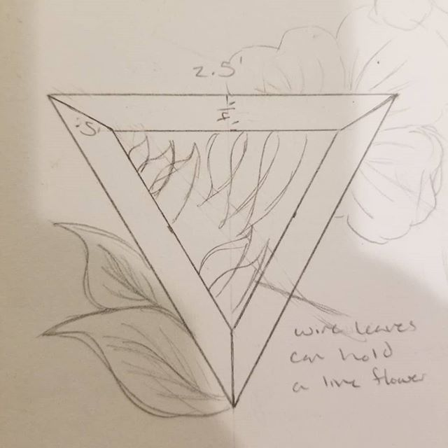 Plan for my new project and my sketches getting there!! . . . #metalsmith #sketch #sketchbook #pencil #violets #flowers #triangle #queerartist #snagmember #snagmetalsmith #snag