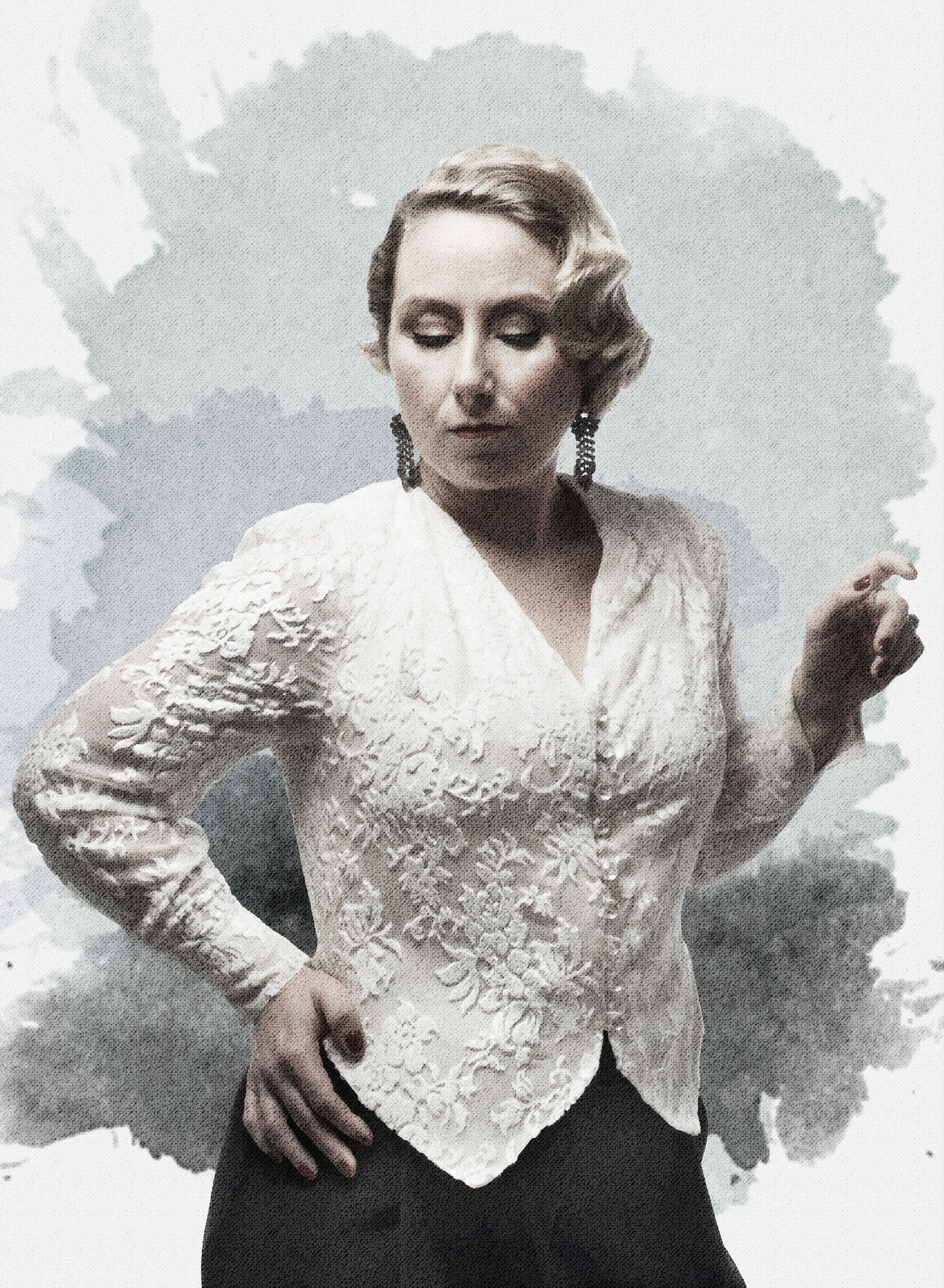 No. 17 Granada - Denne skjortebluse er inspireret af tyrefægterens vest og jakke. Det maskuline udtryk i skjortens linjer sammen med Kvindens feminine udtryk giver den perfekte balance