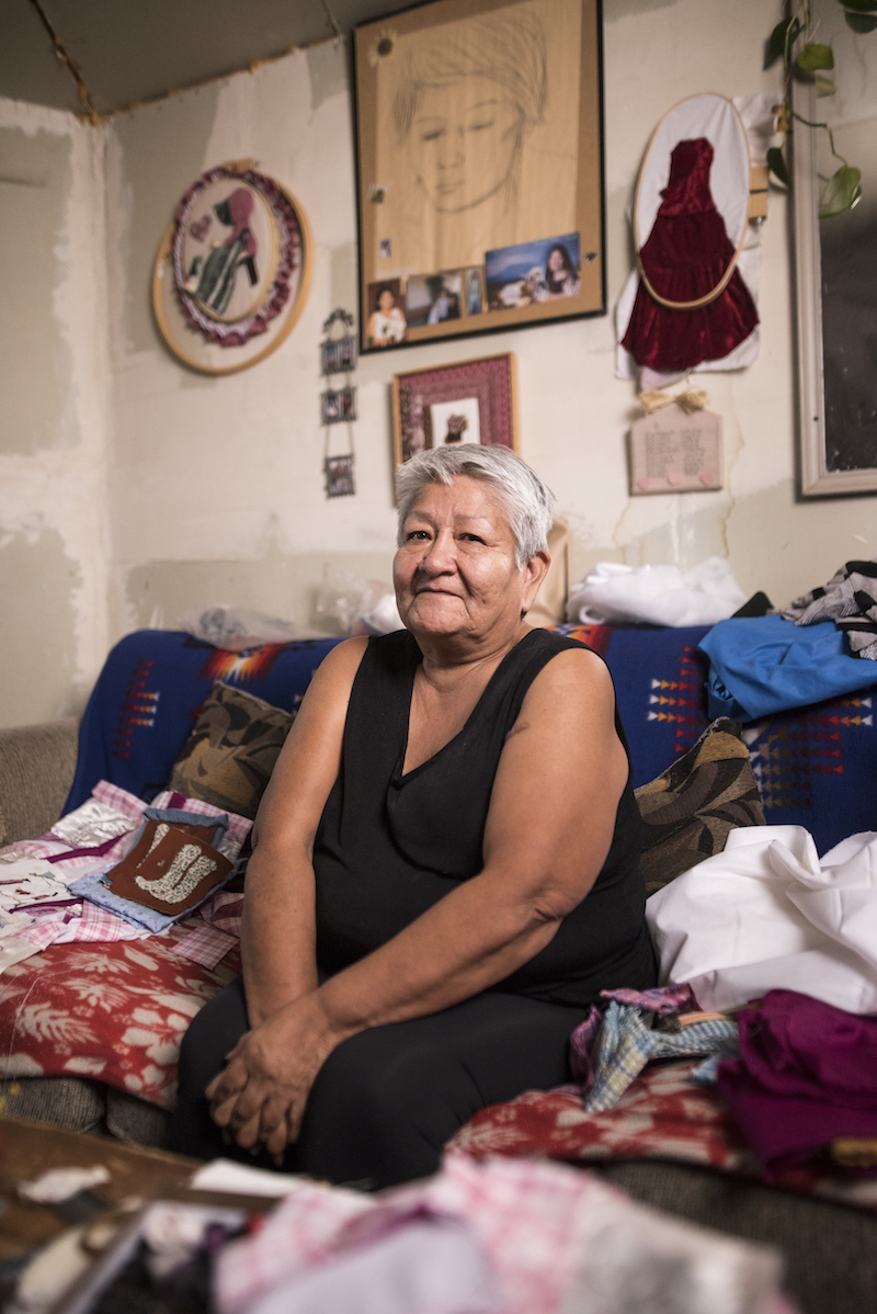 Loretta Johnson liveson Navajo Mountain and needs clean water. - Watch the film.