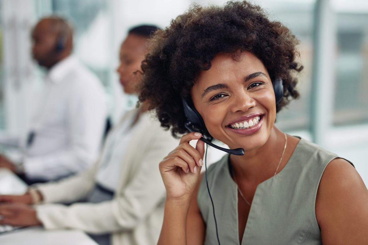 Woman talking on headset .jpg