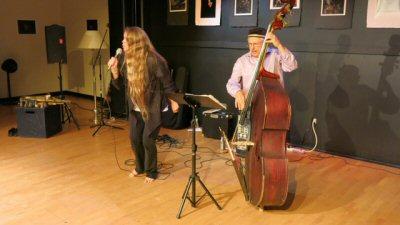 Katie Bull, vocals & Joe Fonda, bass