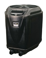 Electric Je heat pumps - Also available in several sizes electric heat pumps are recommended for the customer wanting to maintain a specific temperature year around.