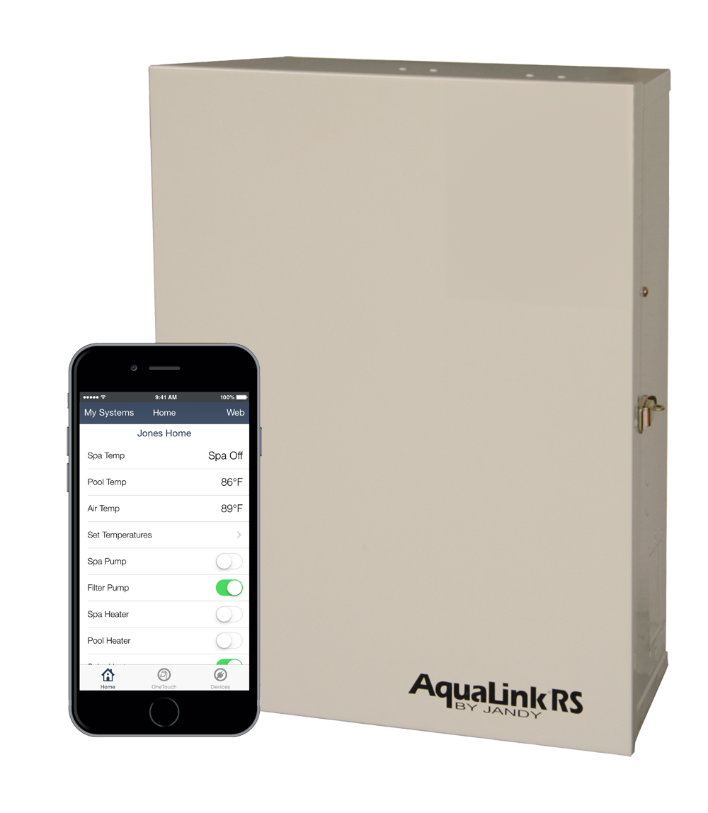 Jandy AquaLink automation - Take control of your backyard experience with the most user-friendly, innovative pool automation and control systems on the market. Access pool and spa features via smartphones, desktops, and tablets through the intuitive, convenient, and award-winning iAquaLink app.