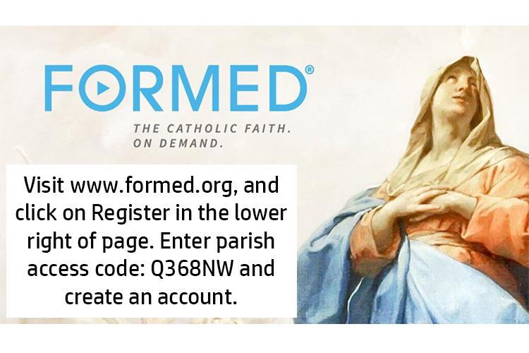 Register here:  FORMED.ORG