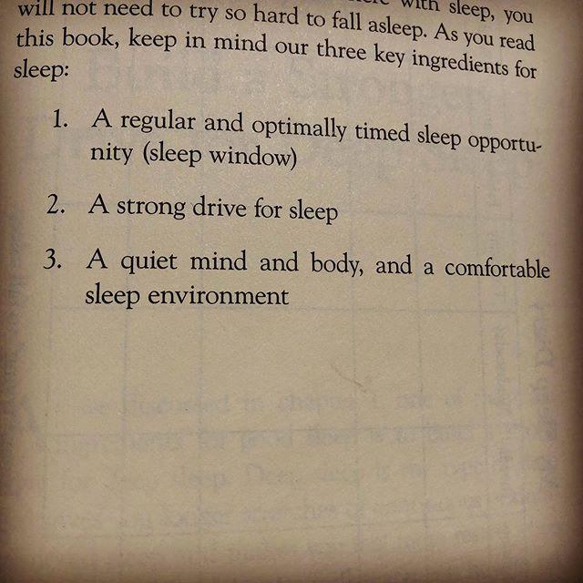 Three key ingredients....