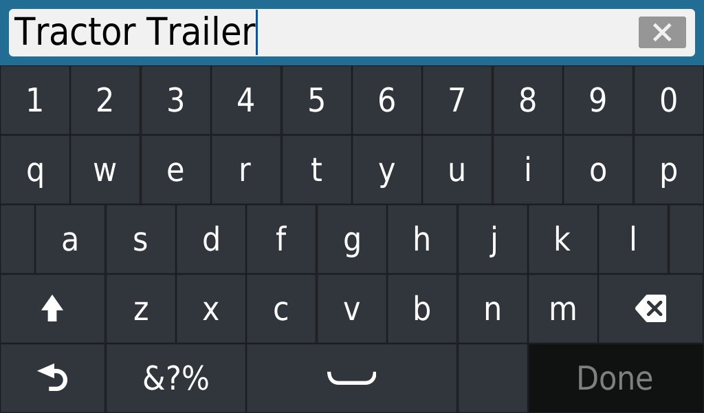15.  This will bring up a dialog and keyboard and allow you to enter in a new name for the profile.