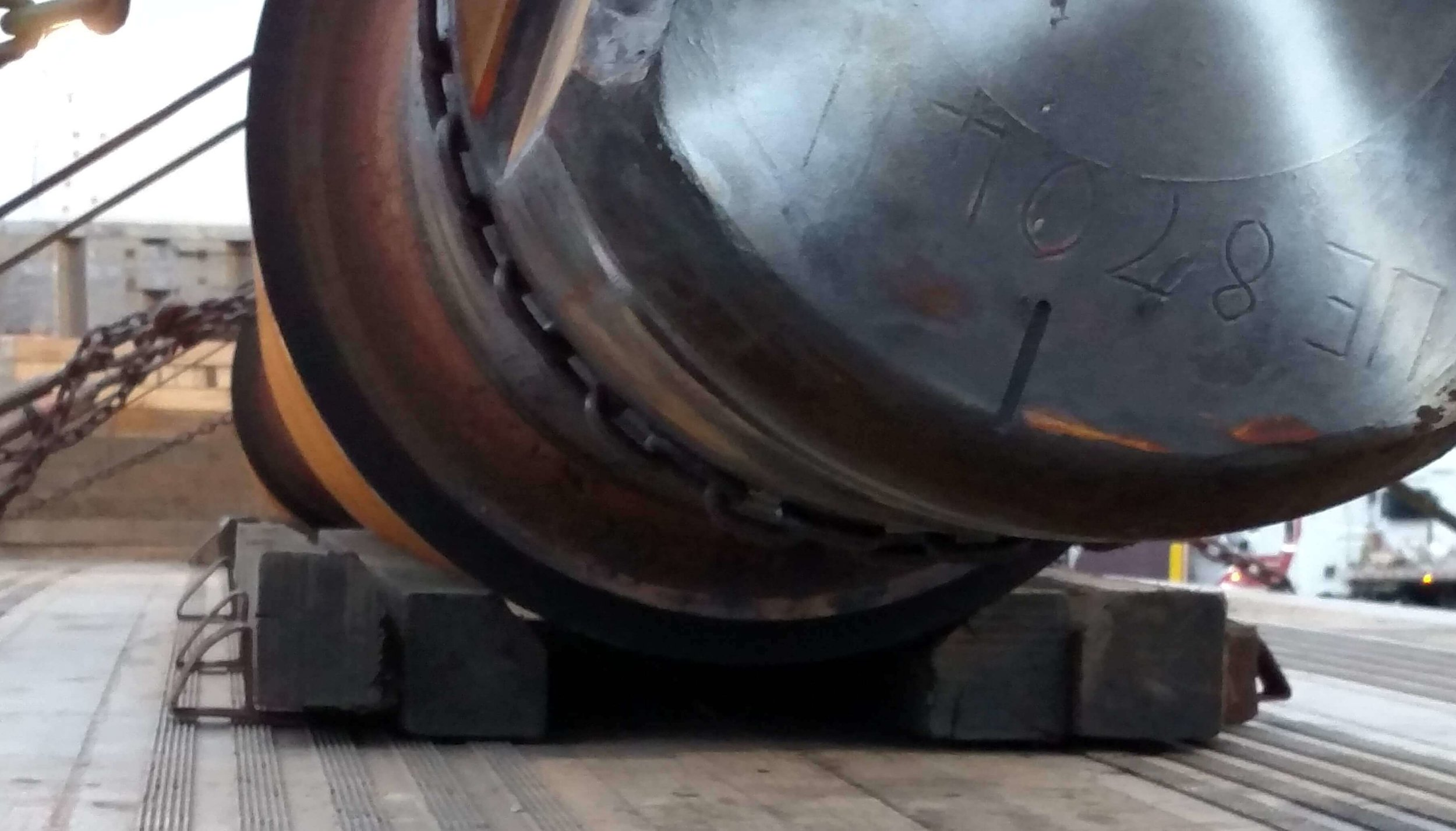 H-2:  When using coil racks, use spacer blocks to keep the roll off of the floor of the trailer.