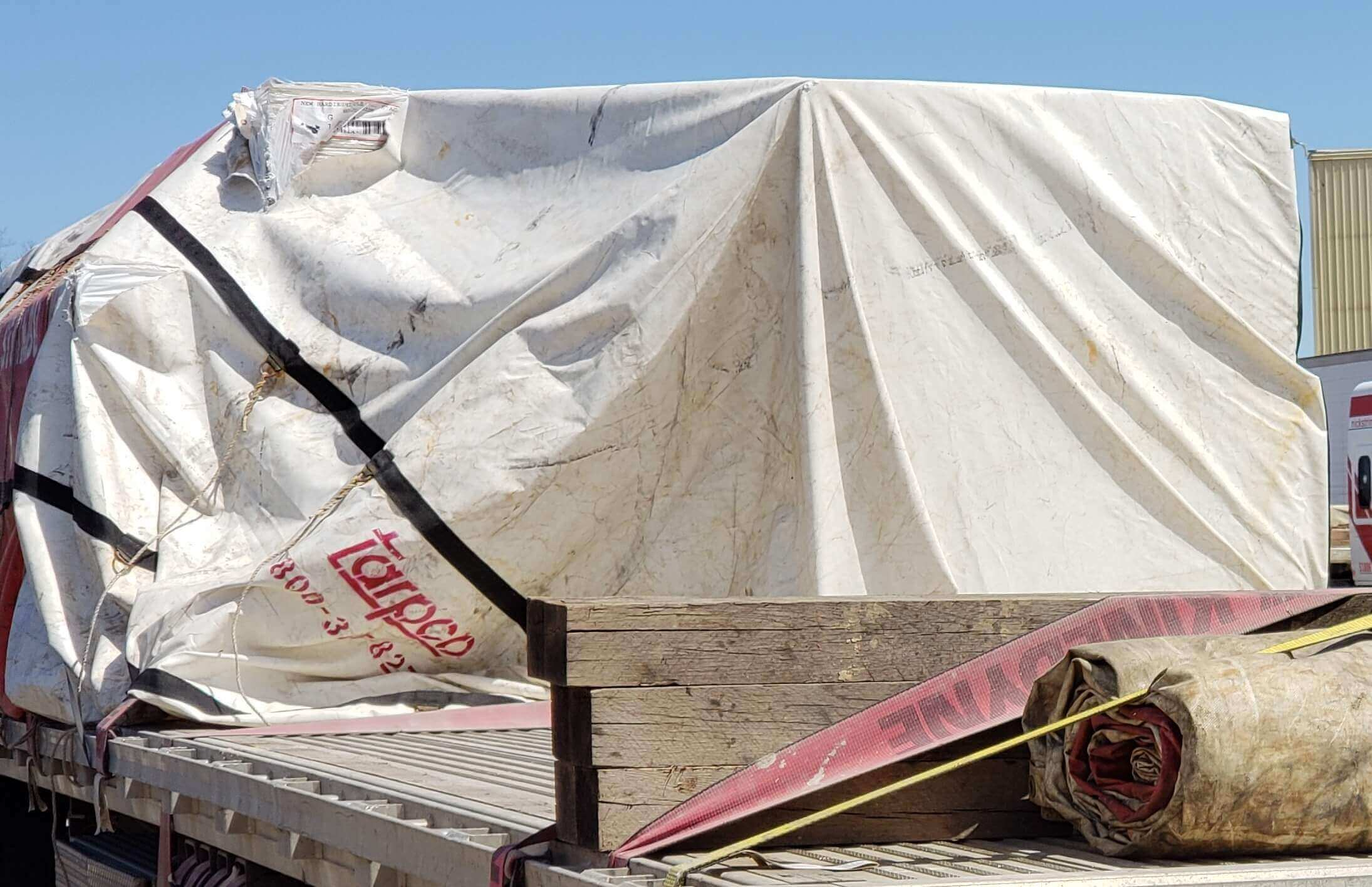 I-13:  No felt to protect tarp from ripping on corners.