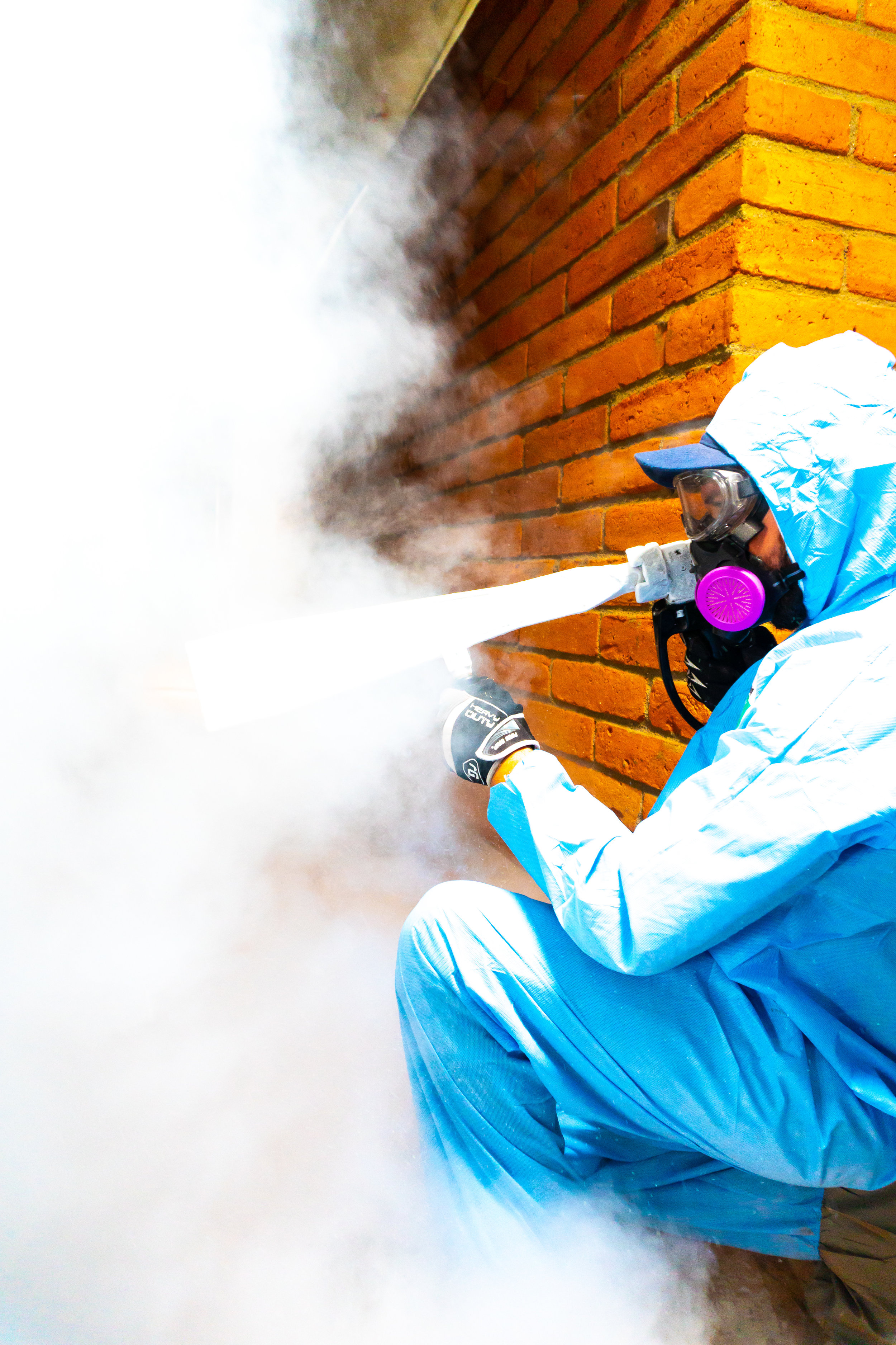 ADVANTAGES OF USING DRY ICE BLASTING: - • It's colorless, odorless, incombustible, non-abrasive, and non-conductive.• It contains no secondary contaminants.• It's a cleaning process that is approved for use in the food industry.• Items can be cleaned where they are located without disassembly• Can be used without effecting active electrical and mechanical parts.• Can remove biofilms, release agents, contaminants, paints, oils, and chemical residue.• Can be as gentle as cleaning dust inside an electrical panel or as destructive as removing weld slag