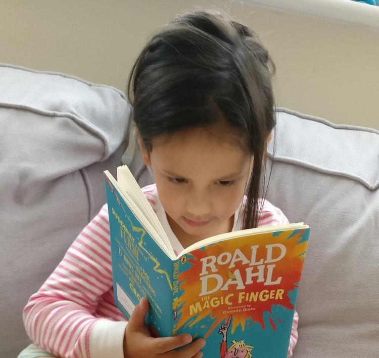 She's now loving Roald Dahl, as I did.