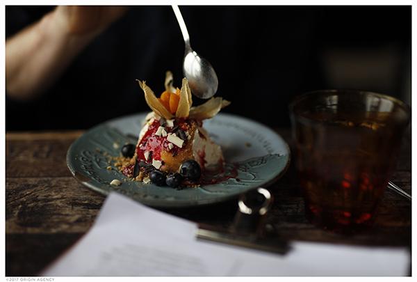 A little taste of Iceland: skyr cake with blueberries.
