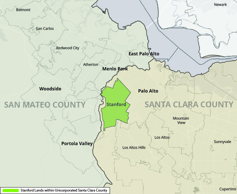 Stanford Lands within Unincorporated Santa Clara County