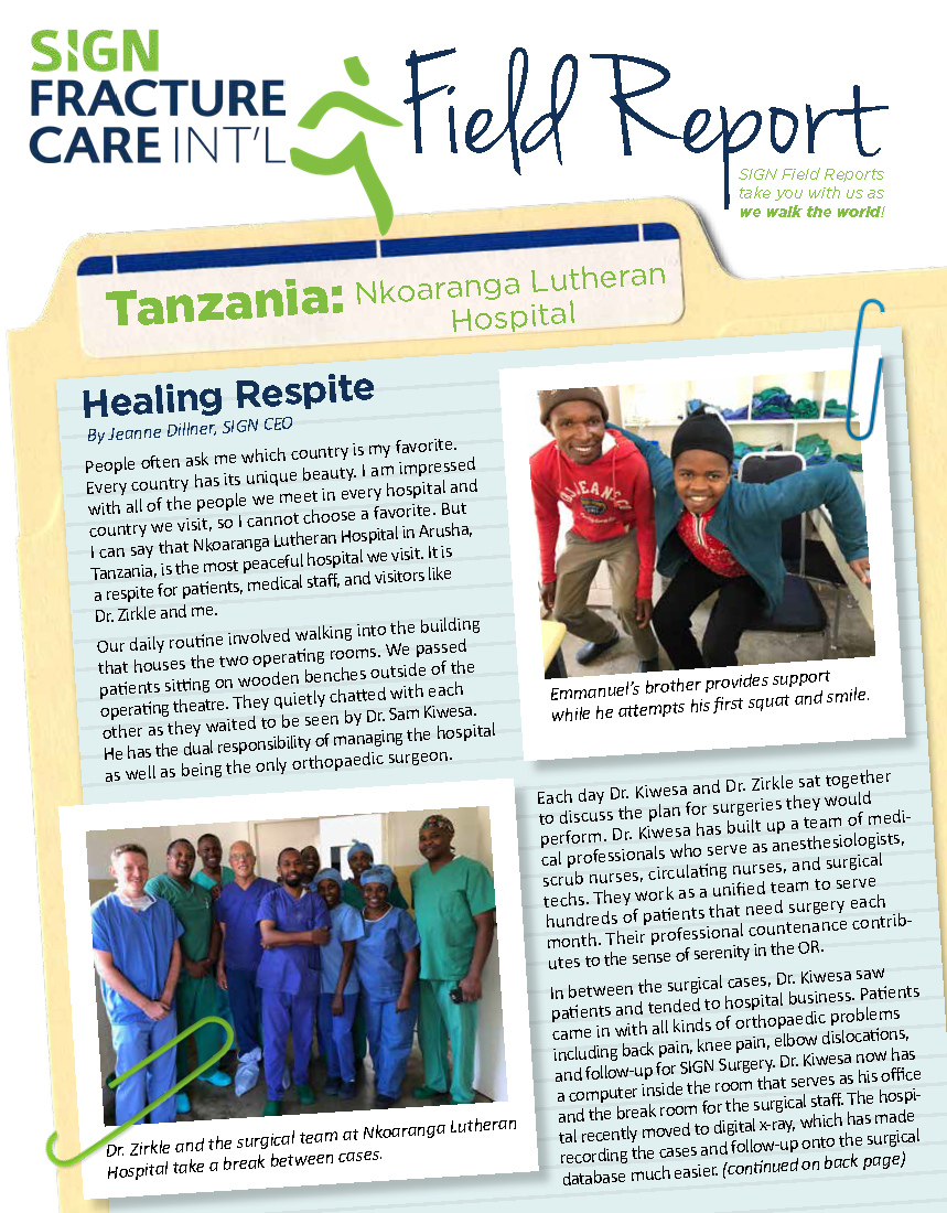 July 2019: Field Report - Tanzania