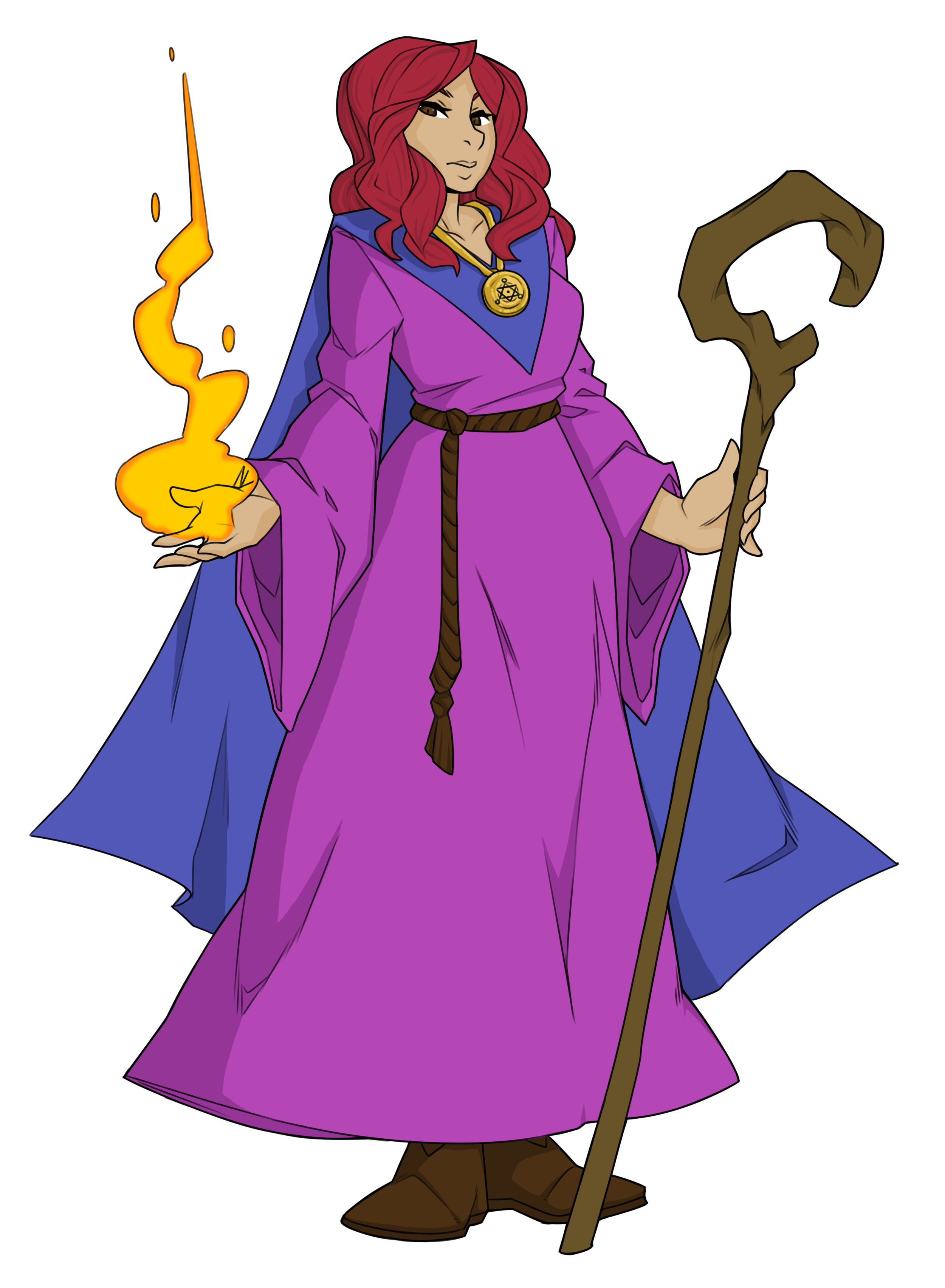 Prym - Class: MagicianAge: 19Hometown: PellPrym and her sister Pryscilla live in Pell with Arnen and Krell. She left the village a few years ago to train at the Magical Archive in Glasmere, but recently returned. Prym joins the party early on in the adventure as your elemental spell caster.