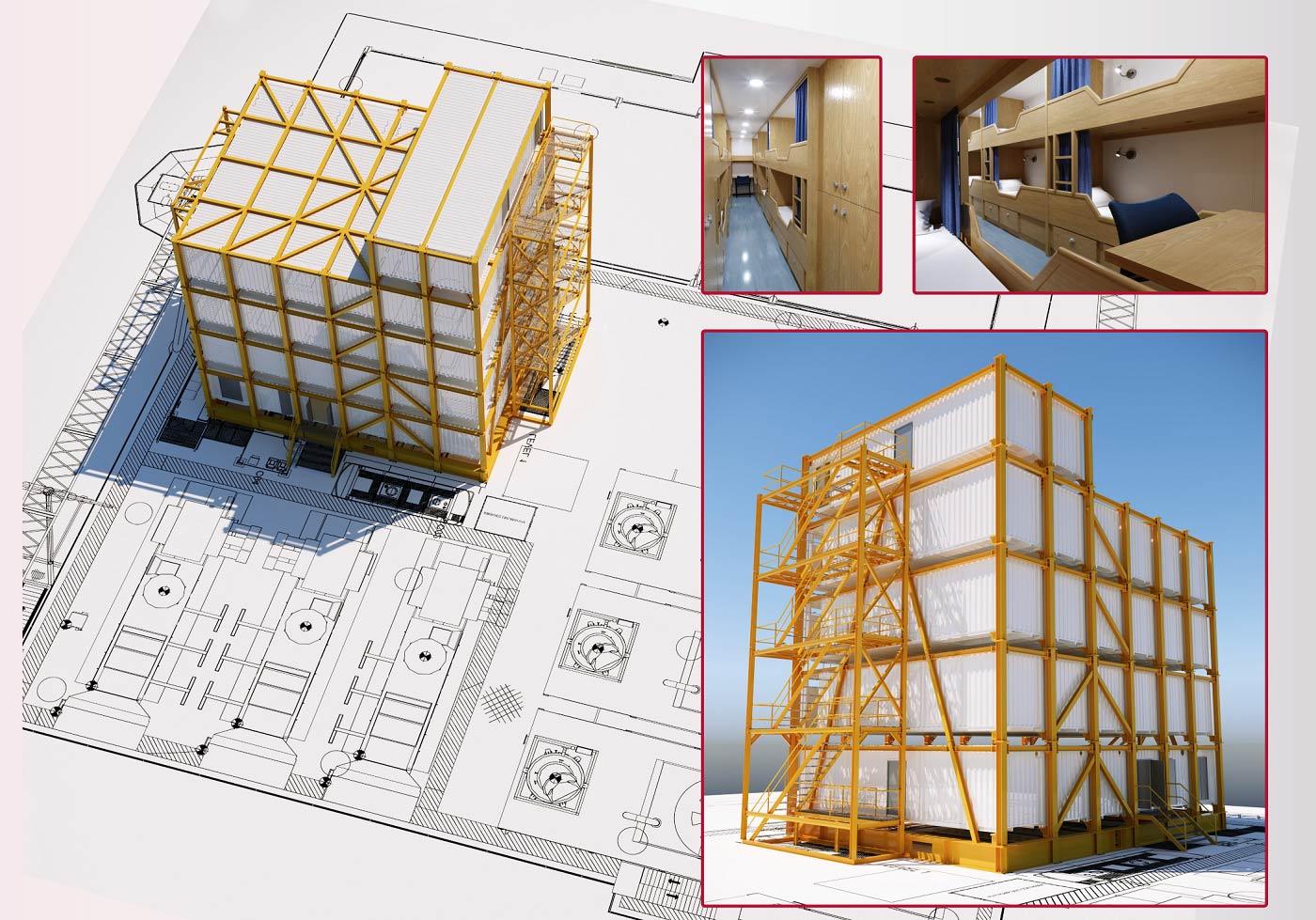 Modular Accommodation Block Concept