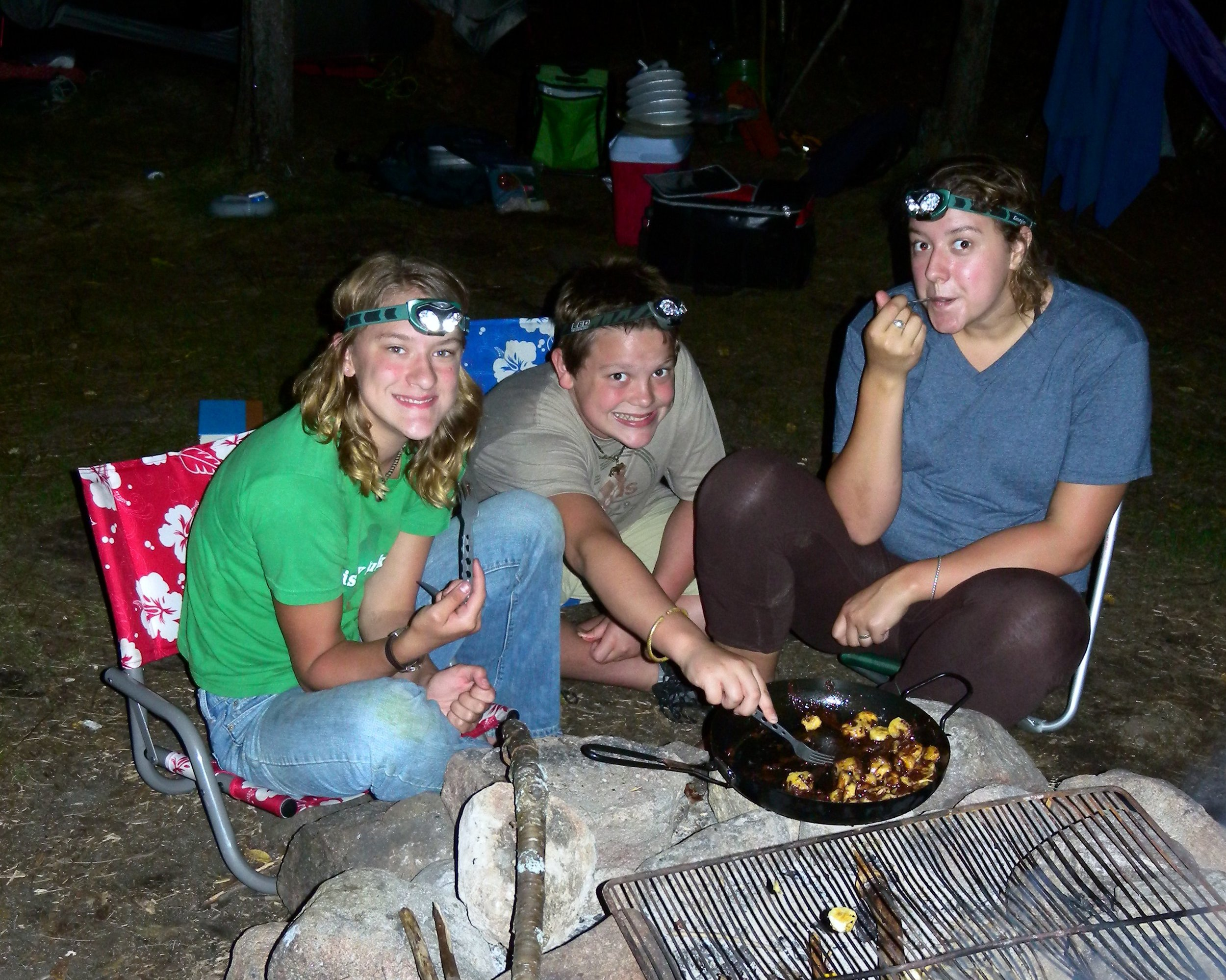 My children, Louisa, Jens, and Liesl on our annual a backcountry family canoe-camping trip.