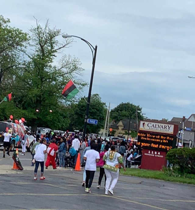 Primary Hall wishes you a happy Juneteenth! ❤️🖤💚 Did you know that Buffalo has the third largest Juneteenth celebration in the world? Thank you @calvarybuffalo for this shot outside your building from this year's parade! #Juneteenth #buffalo #education #educationisprimary #charterschool #tradition