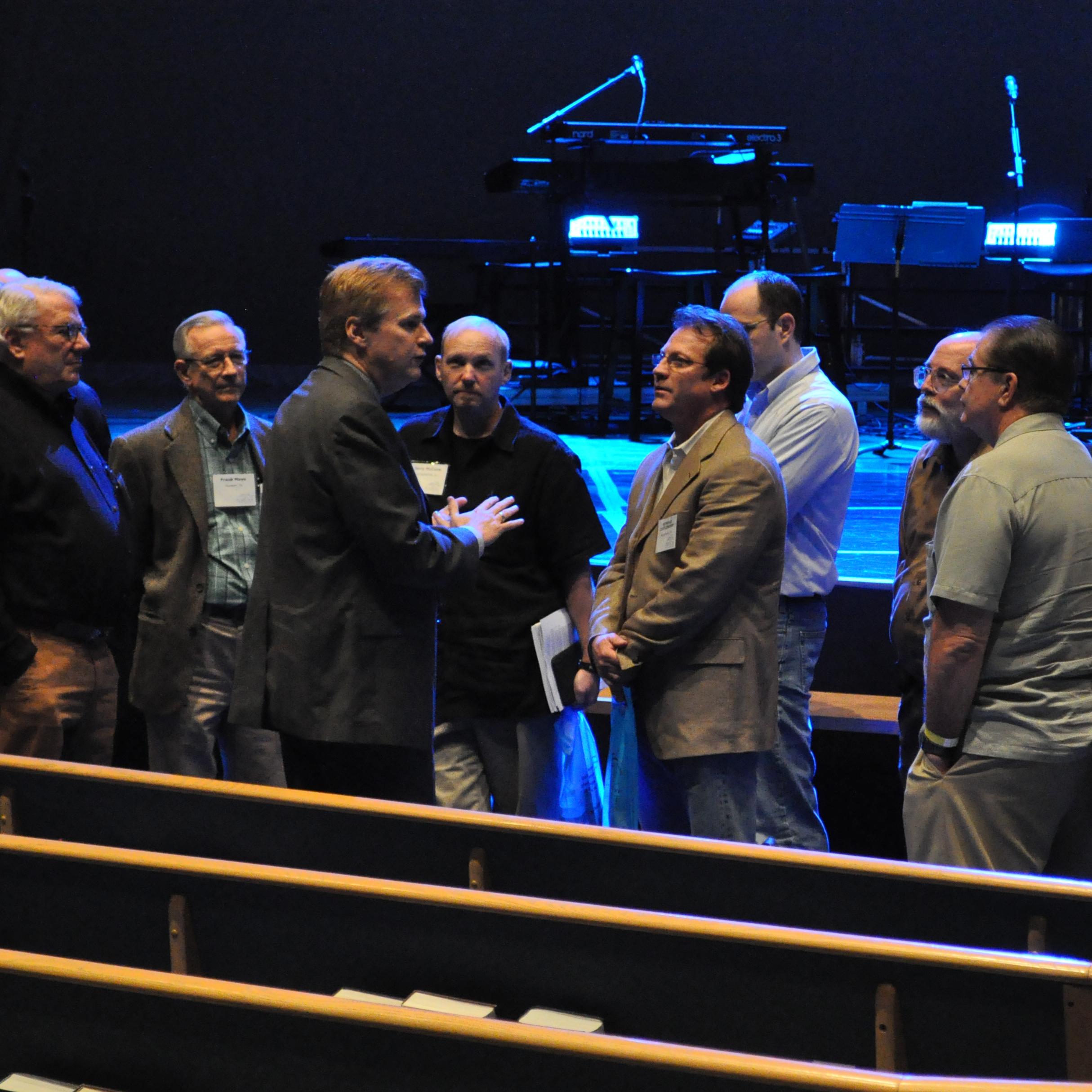 John Mark Reynolds Speaking with Attendees.jpg