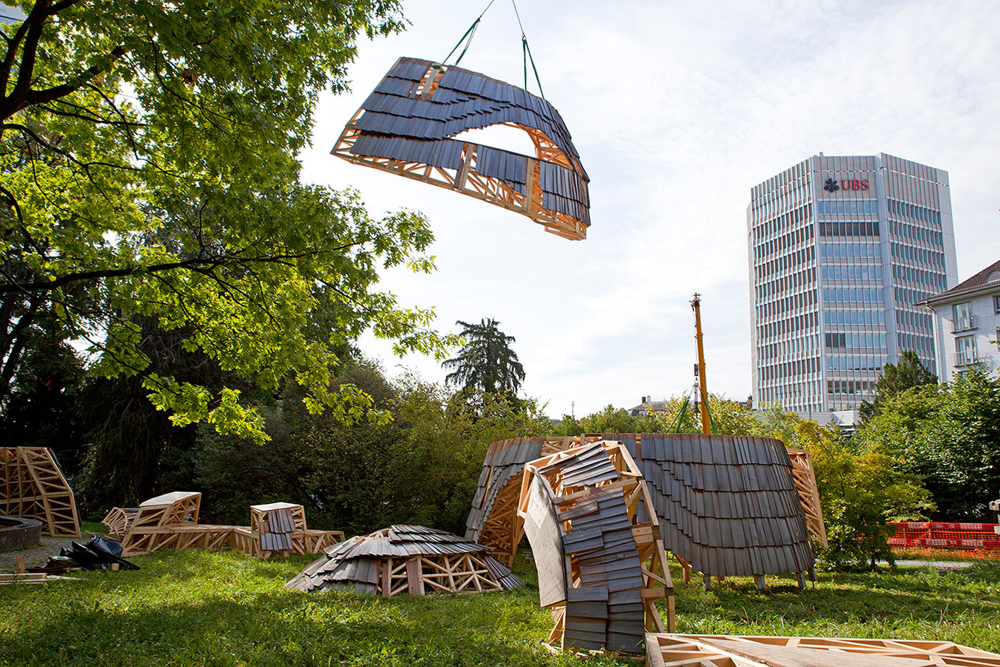 Design Biennale Zürich 2017, Robotic Pavilion, ETH, Gramazio Kohler Research (Foto: Lukas Beyeler)