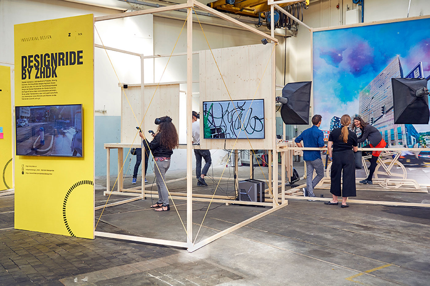 Design Biennale Zürich 2017, Design Ride, ZHdK, Industrial Design (Foto: Luca Zanier)