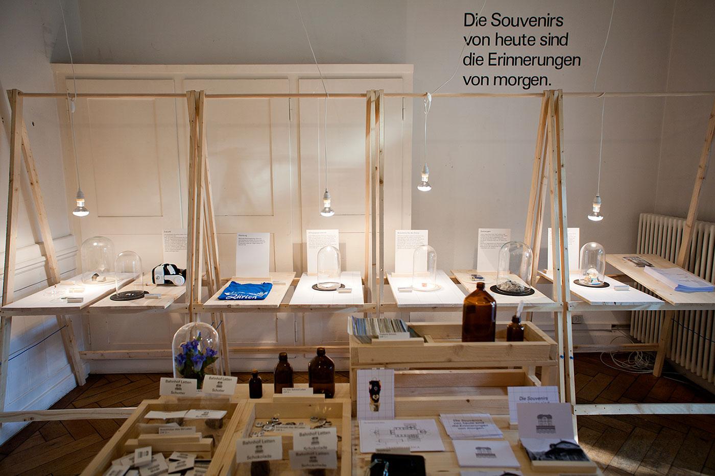 Design Biennale Zürich 2017, Souvenirs der Zukunft, Transhelvetica (Foto: Lukas Beyeler)