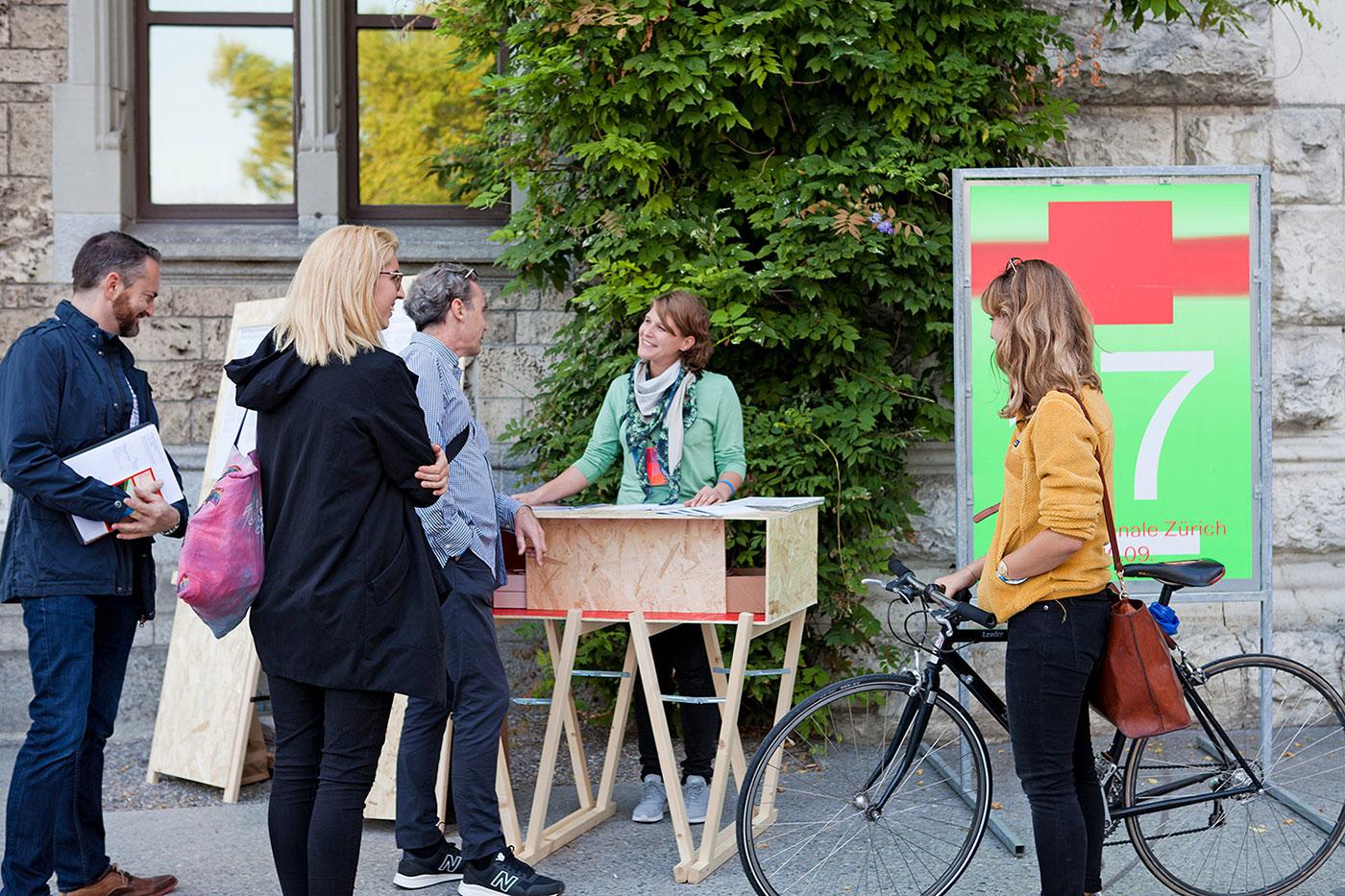Design Biennale Zürich 2017, Kasse/Empfang Landesmuseum (Foto: Lukas Beyeler)