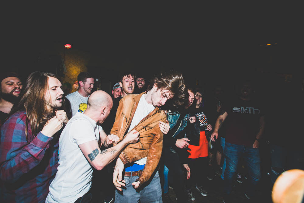 """''I've been trying so hard to forget the last 6 months' Words from The Run Up part of the Habits and Mindsets Project by Fuzz Chucas. Taken During a gnarly Nirvana cover by Hot Mass, at Mozarts Swansea's last show ever 2018."""""""