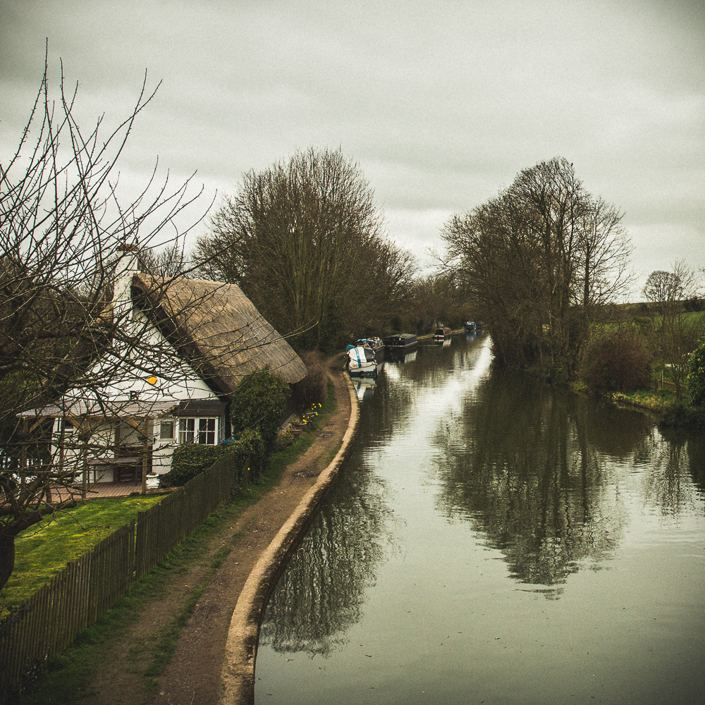 Just North of London - There's a thatched town called Tring. Don't laugh at the name because the whole town is just stunning and so filled with canals you can't help but write a poem.
