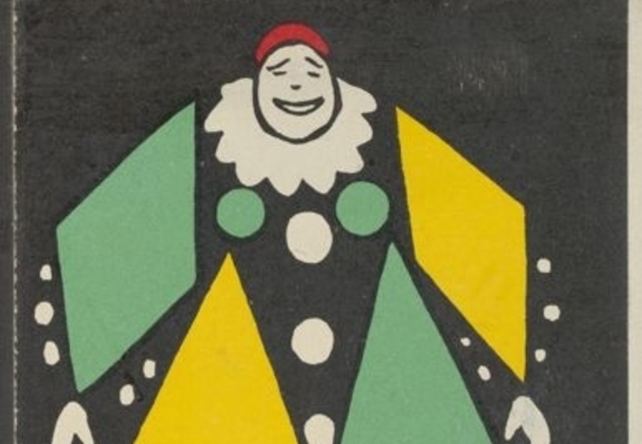 "Portion of ""Clown,"" by Rudolf Kalvach"