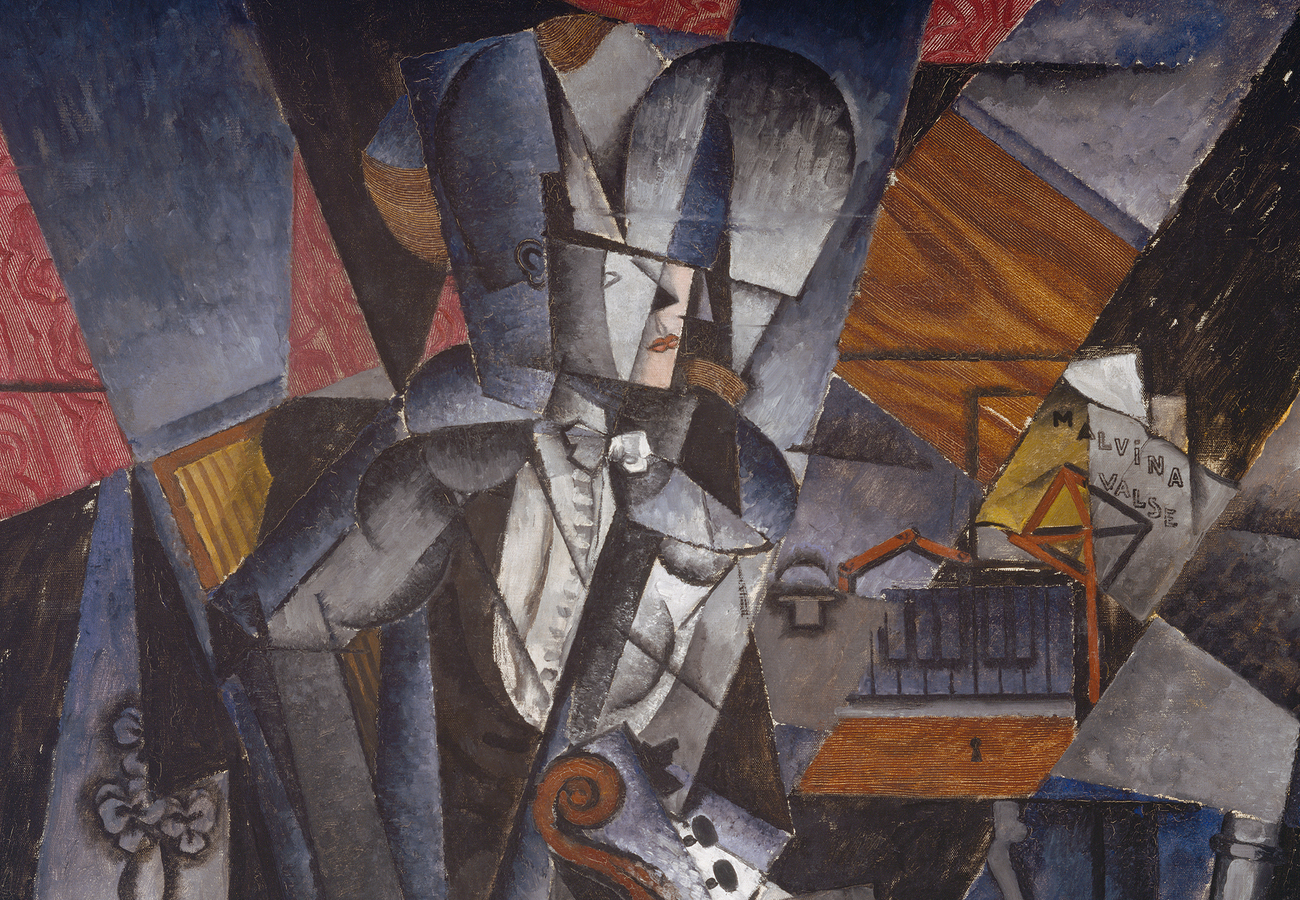 """Portion of """"The Musician,"""" by Louis Marcoussis"""