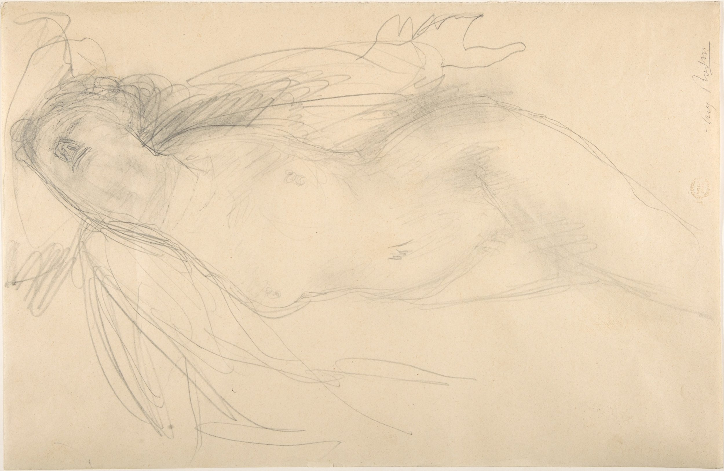 """""""Female nude reclining"""" by Auguste Rodin"""