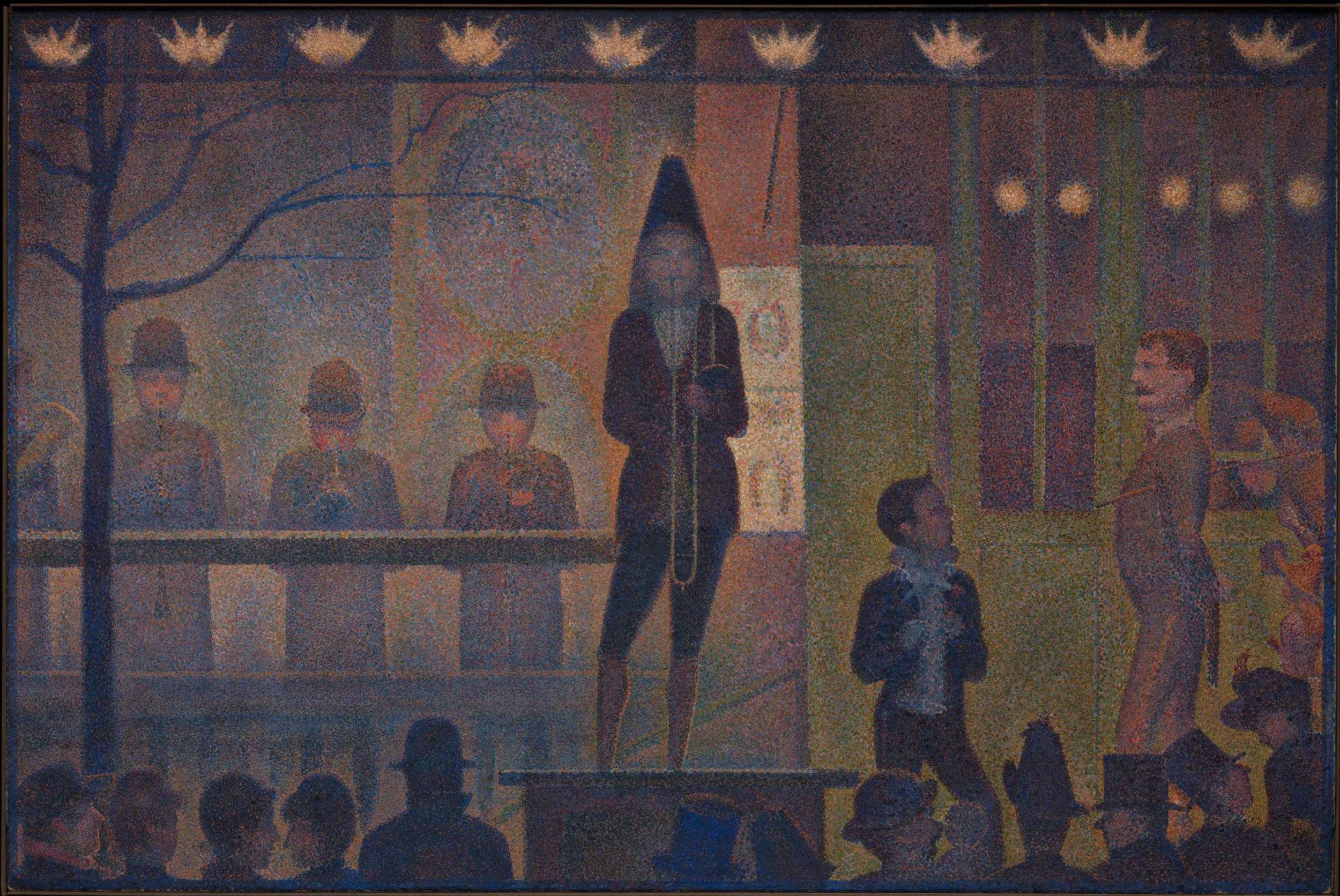 """Parade de cirque"" by Georges Seurat"
