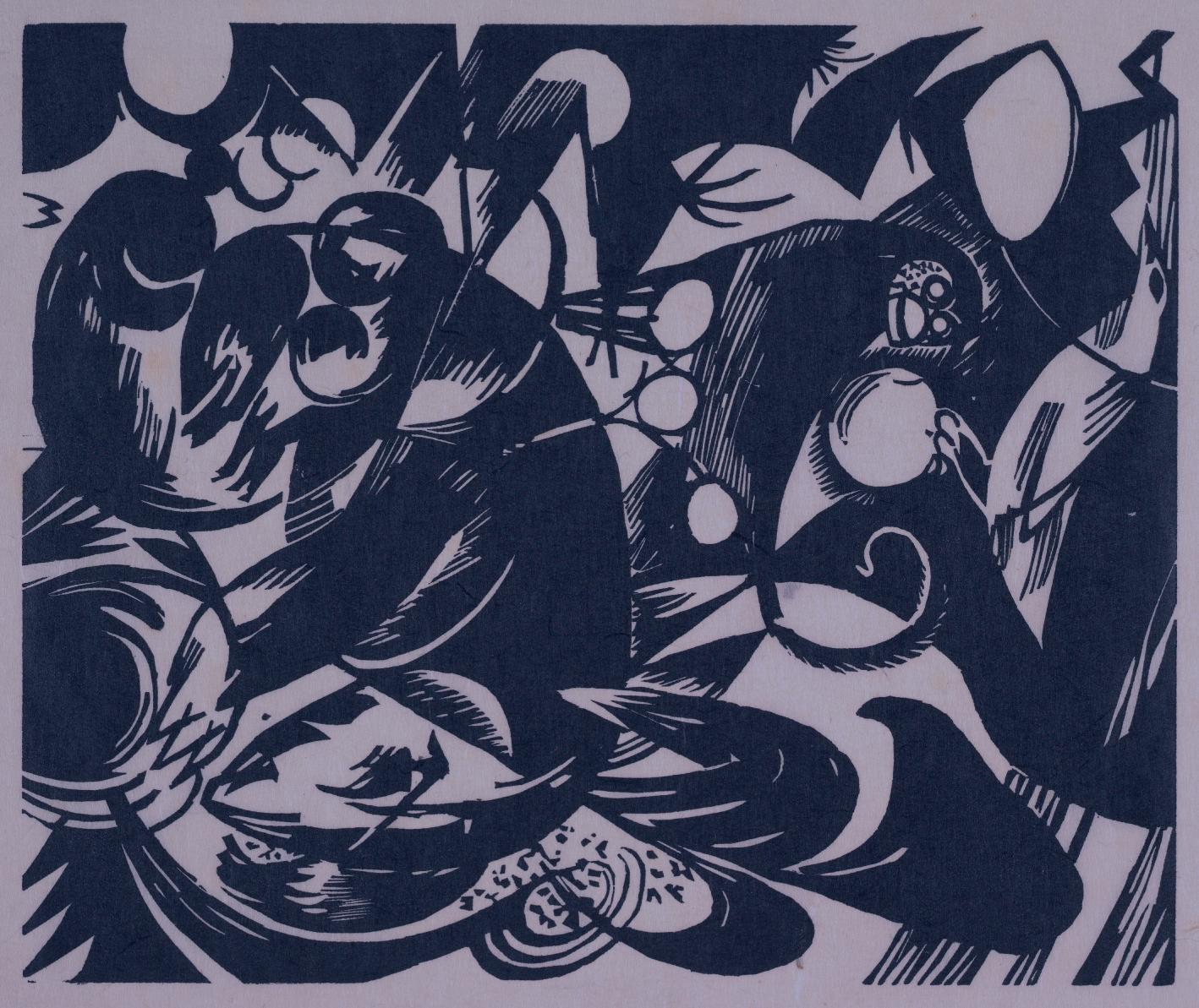 """""""Schöpfungsgeschichte I"""" by Franz Marc"""