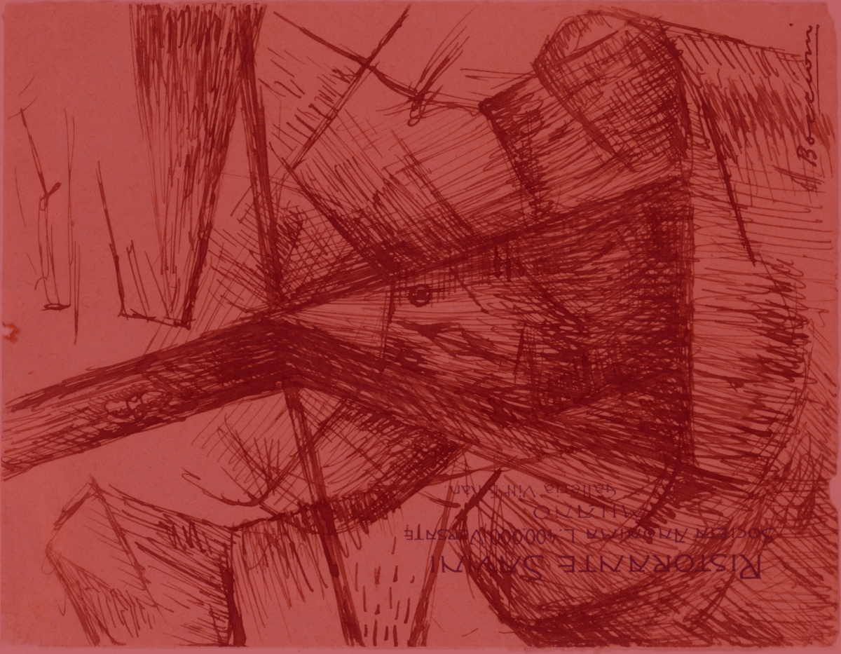 """""""Study for 'Fusion of a Head and a Window'"""" by Umberto Boccioni"""