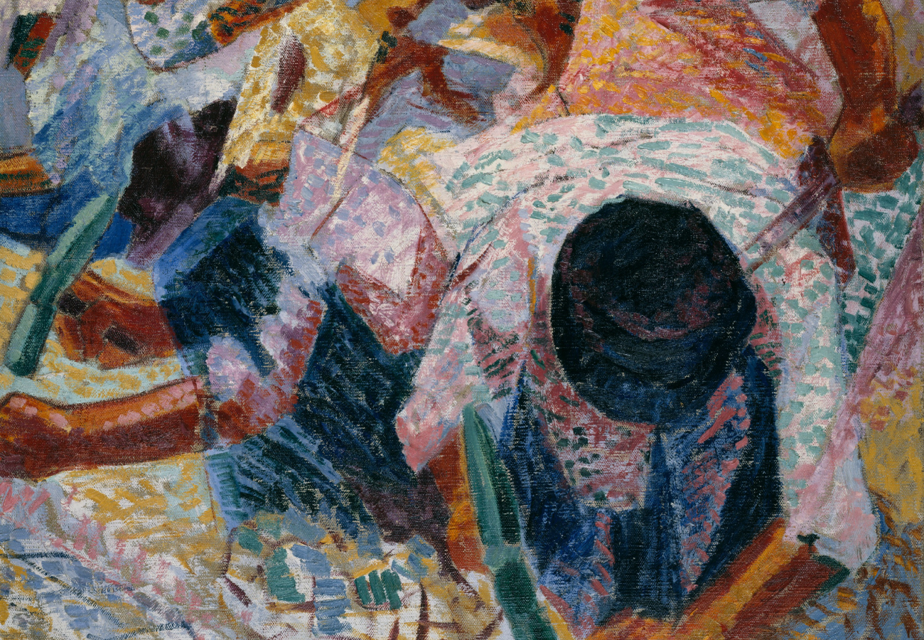 "Portion of ""The Street Pavers"" by Umberto Boccioni"