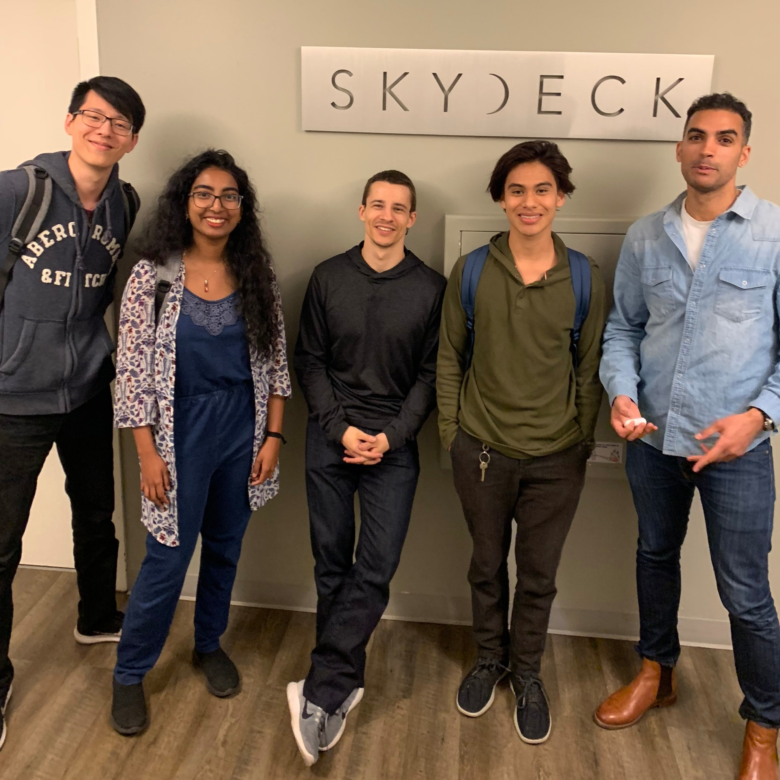 Jack Hsu – Design, Production, ME, UC Berkeley  Zeyana Musthafa - Developer, Computer Science, UC Berkeley  Mihai Bulic – Developer, Production, Computer Science, UMichigan, Senior Dev, Google  Alfonso Sanchez – Electronics, Production, EECS, UC Berkeley  Giuseppe Salento – Developer, Security, PhD Computer Science, UPenn, Lyft, Google, Intel, Samsung, HP  Jeshua Aveno – Assistive Technology Specialist, Center for Independent Living