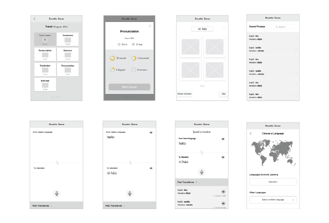 Wireframes by team (Levona and Cindy)