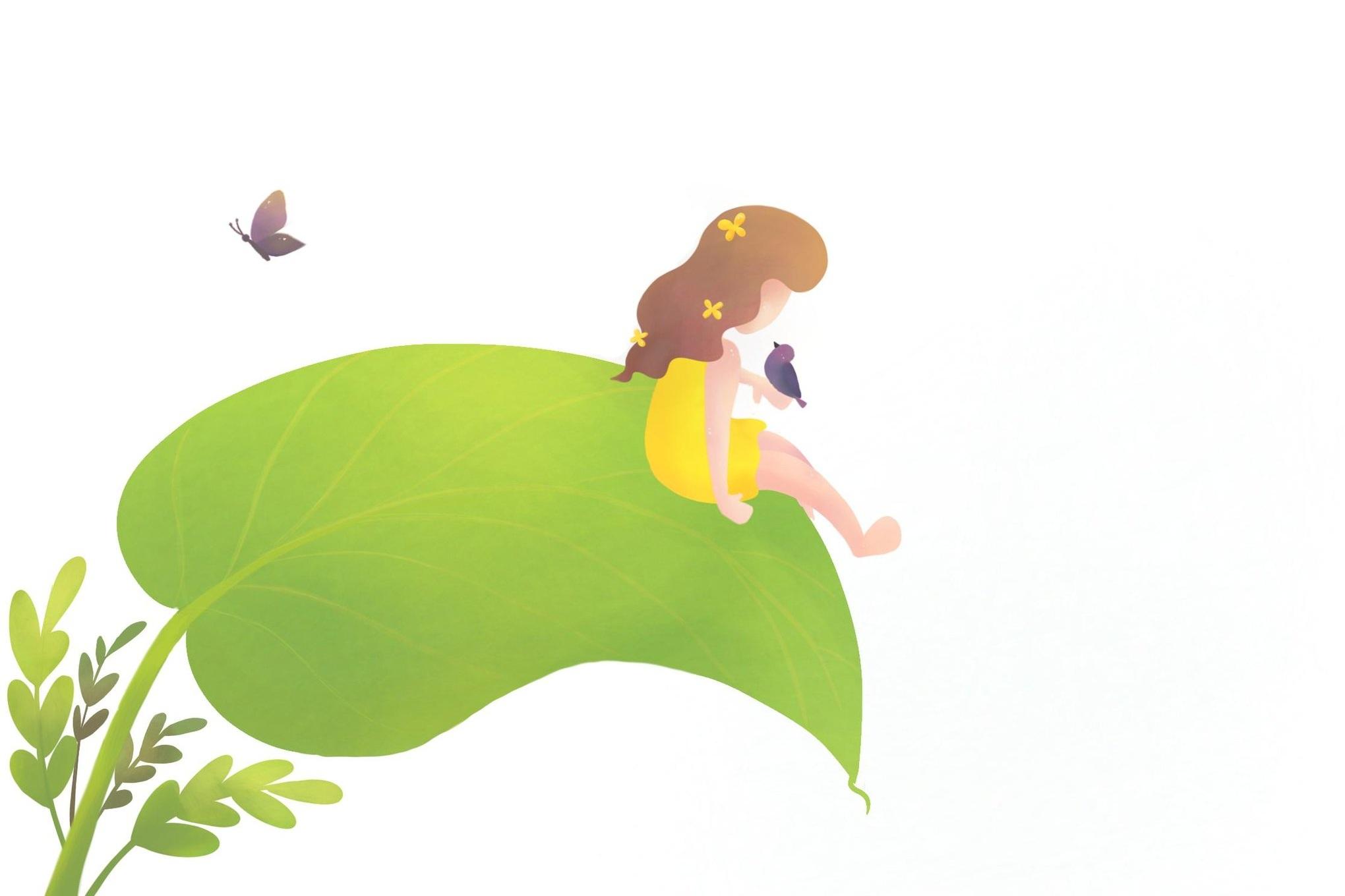 Life on a Leaf: Latest illustration using textures