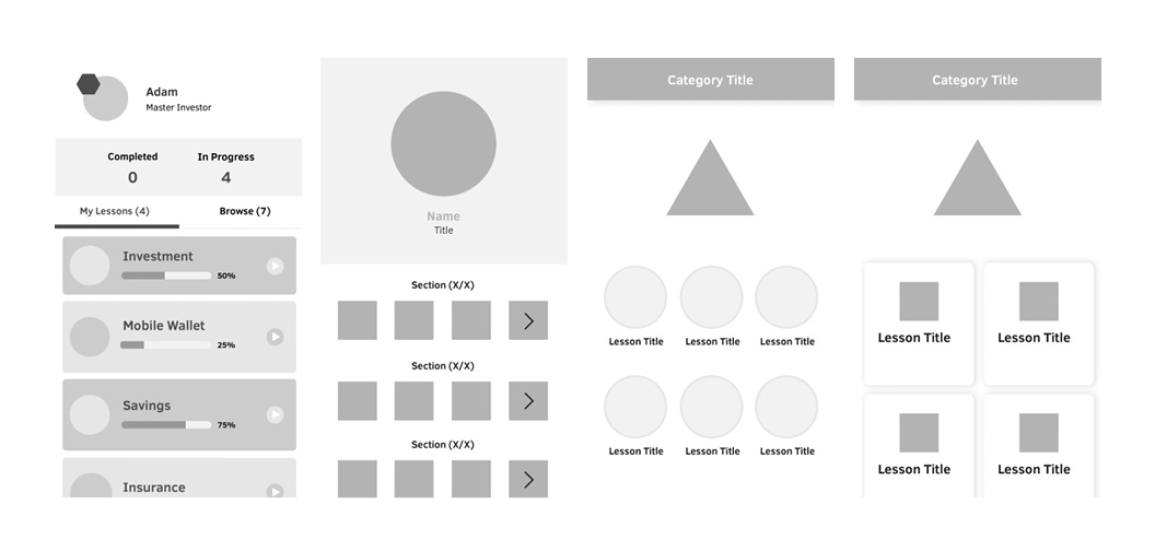 Some of the mockups for the redesign of Monkiri