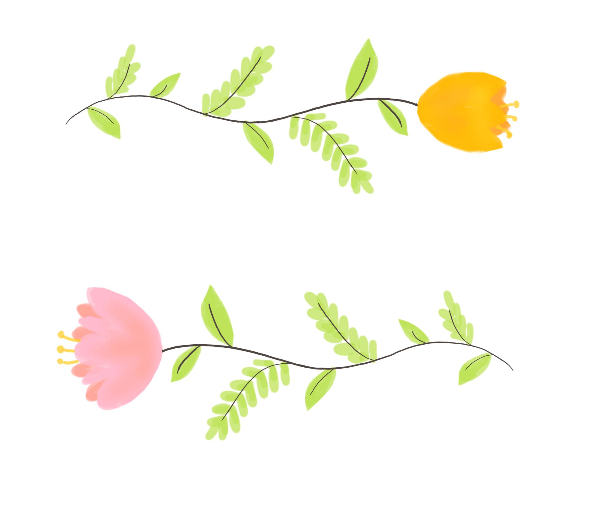 Floral illustration for client