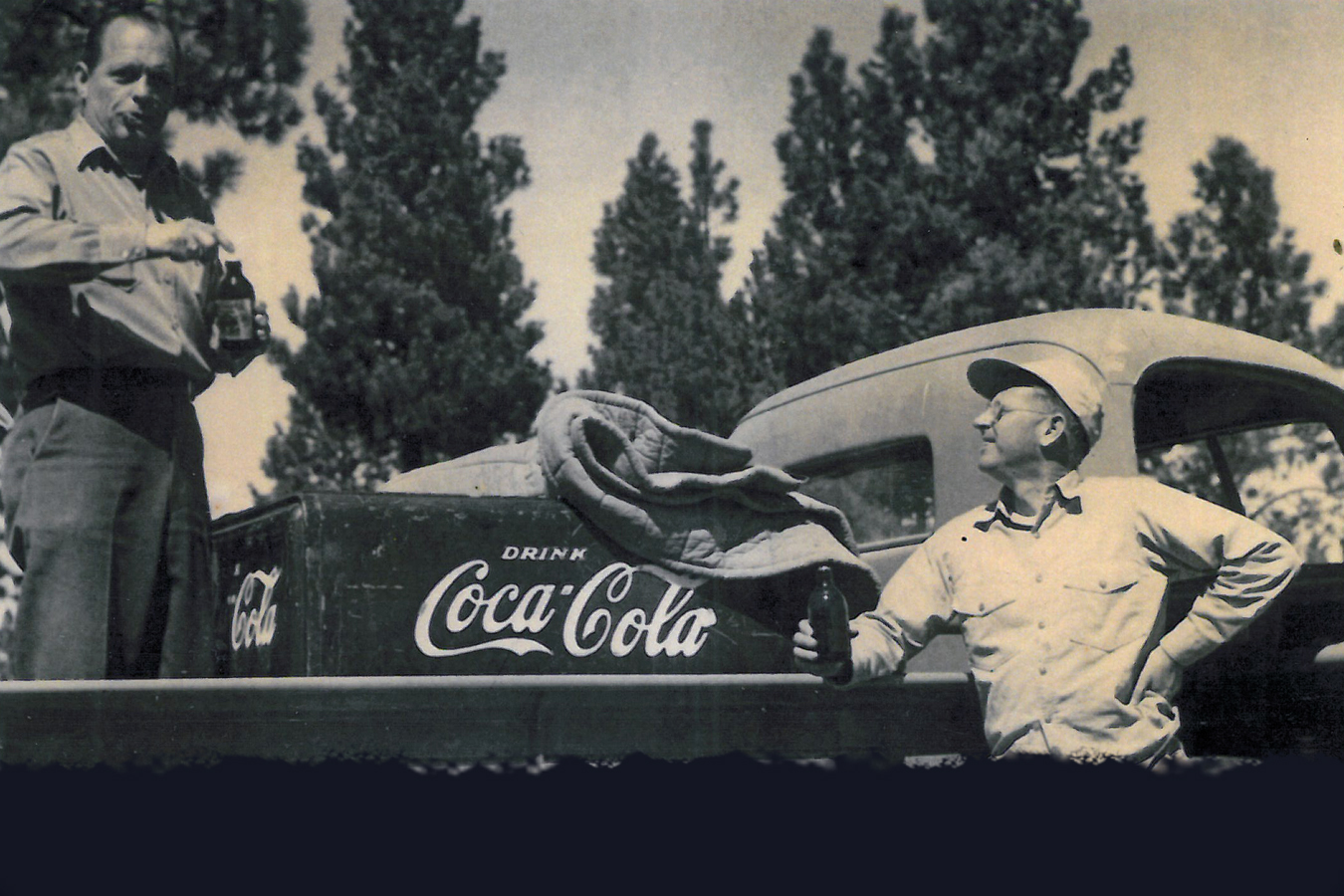 In appreciation of the grounds crew, members often delivered ice-cold Cokes on hot summer days.