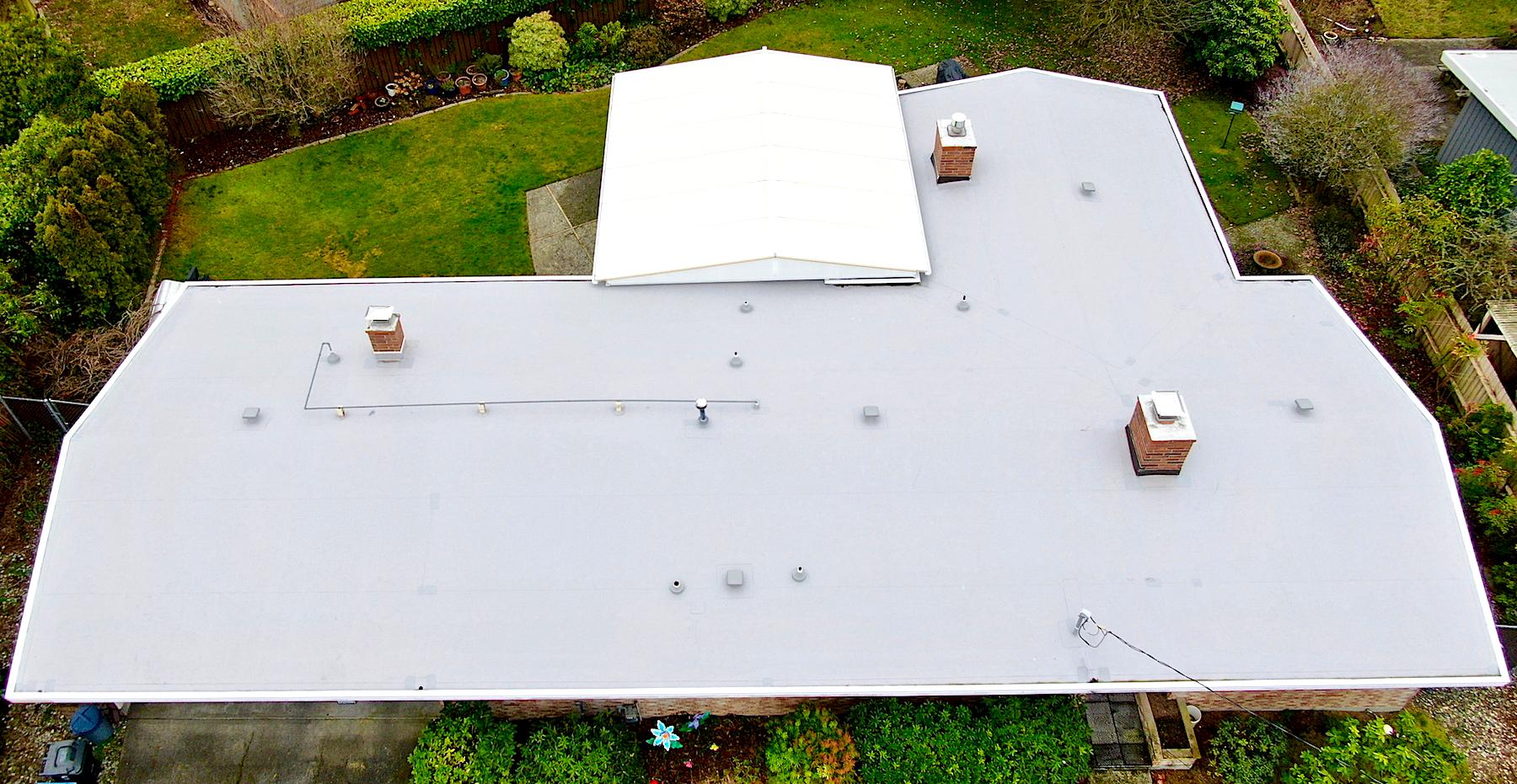 Low Slope Residential Reroof, Tacoma, Washington