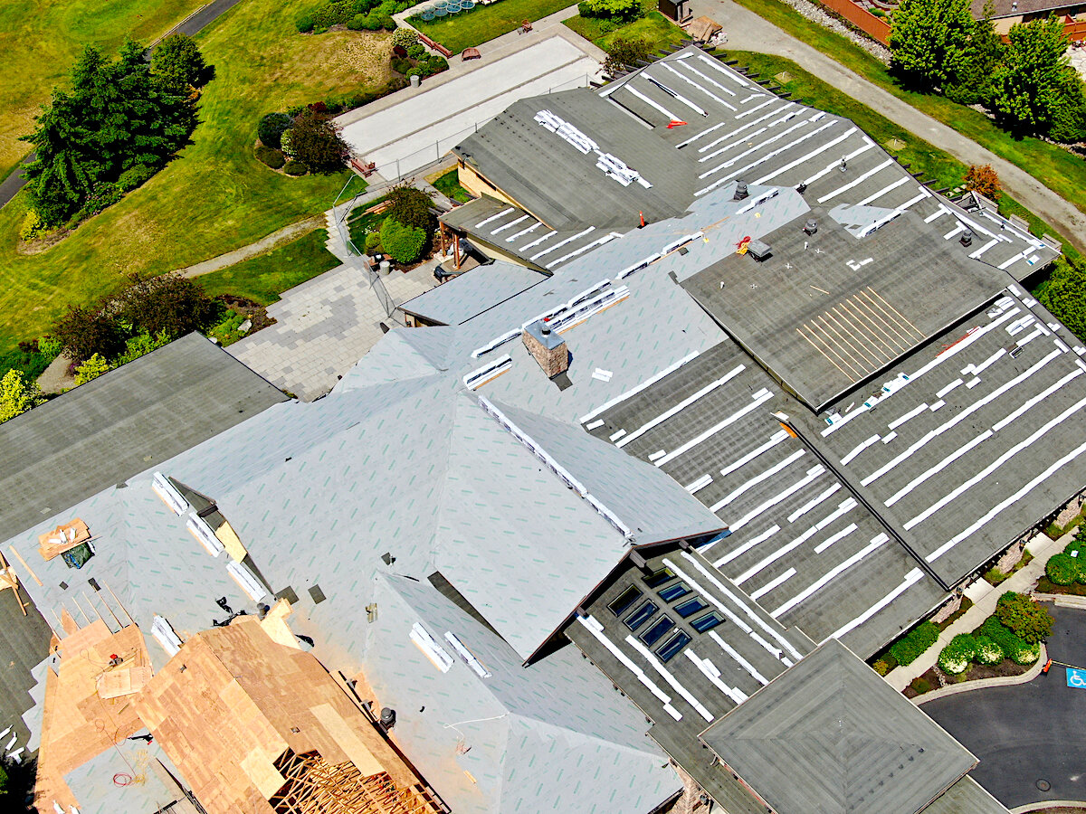 In-Progress Multifamily New Construction Asphalt Shingle Roofing Project In Lacey, Washington.