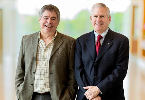 Don McDonald (left), Tom Cock (right)